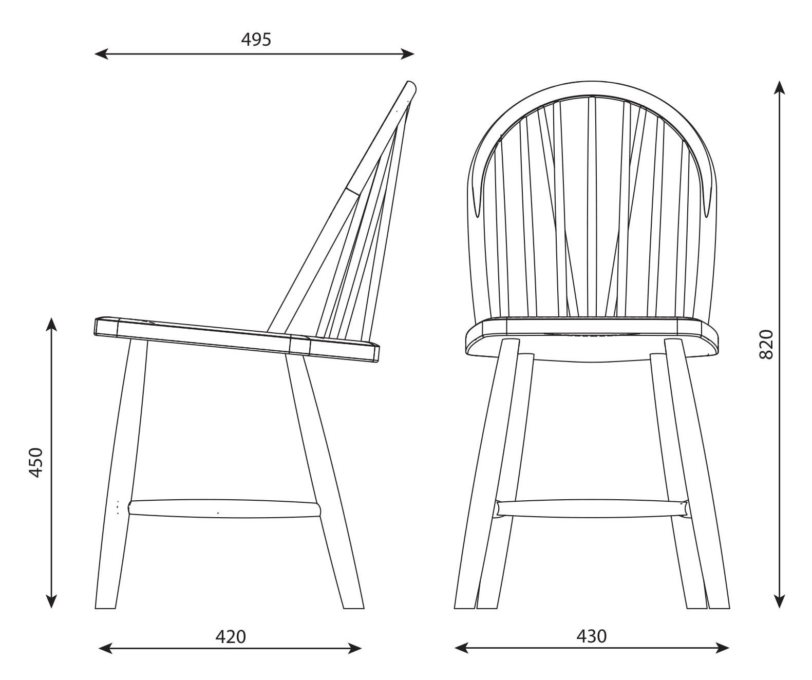 Budalstolen er en norsk Windsor stol, her i farge Skyggeblå